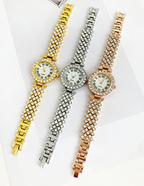 Reloj De Cadena De Diamantes De Aleación