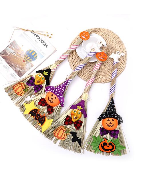 Escoba De Bruja De Calabaza De Halloween