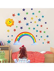 Rainbow Stars Sun Adhesivo De Pared Extraíble Para Habitación Infantil