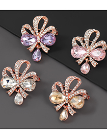 Broche De Flor De Lazo De Diamantes De Aleación
