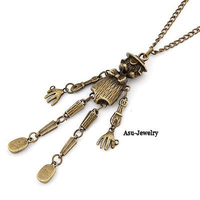 Foldable Bronze Scarecrow Design Alloy Chains