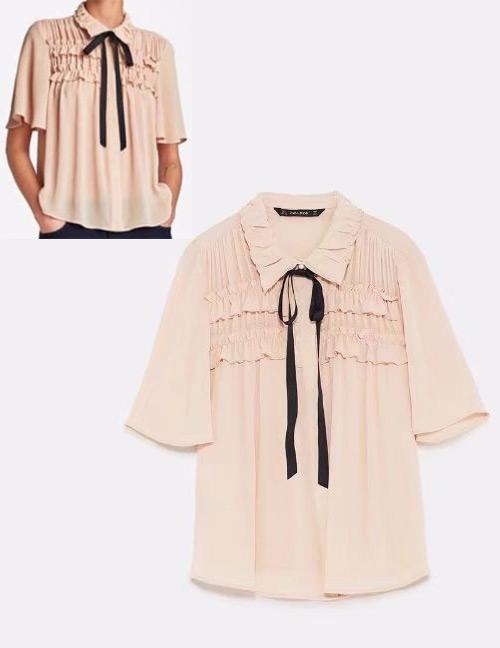 e30e330ed26c Blusa Decorada Con Moño De Moda ,Con un precio de sólo US$10.40