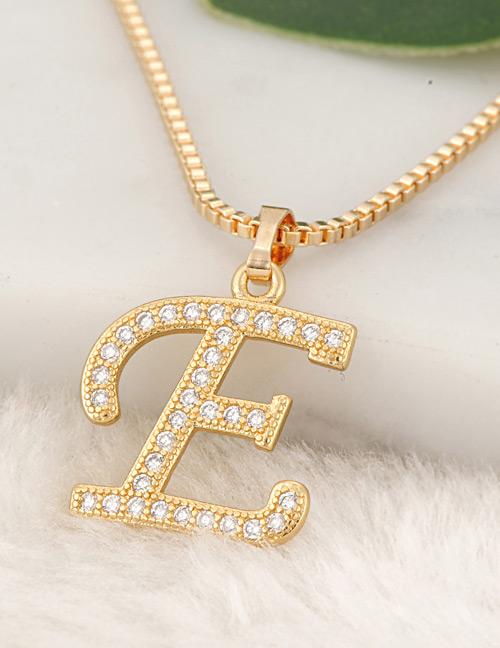 Collar decorado con colgante de letra e mimoda21 fashion gold color letter e pendant decorated necklace aloadofball Choice Image