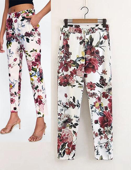 cbb3abc83e Pantalones Estampados De Flores De Moda  www.mimoda21.com.mx