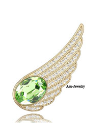 Stainless Green Brooch Alloy Crystal Brooches