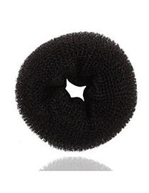 Pearl Black Bud Head Hairdisk Velvet Hair band hair hoop