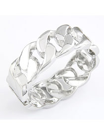 Mint Silver Color Chain Alloy Fashion Bangles