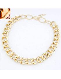 Fingerprin Gold Color Simple Chain Design