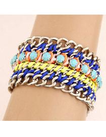 Toddler Multicolor Multilayer Weaving Wide Design Alloy Fashion Bracelets