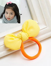 Sweet Yellow Bowknot Decorated Simple Hair Band
