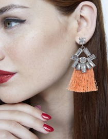 Aretes De Borla Decorados Con Diamante