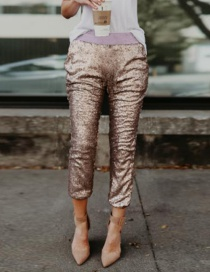 Pantalones Decorados Con Lentejuelas