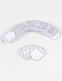 Cartones Blancos Para Aretes De Moda(100pcs)