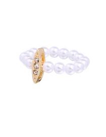 Elegant Gold Color Geometric Shape Decorated Ring