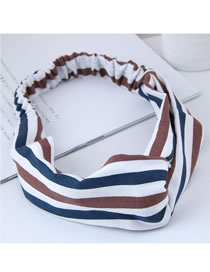 Fashion White+coffee Stripe Pattern Decorated Hair Band