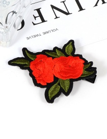Fashion Red Flower Shape Decorated Hair Clip