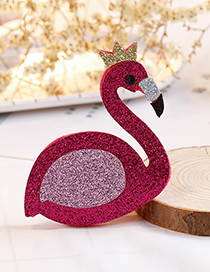 Fashion Plum Red Swan Shape Decorated Hair Clip