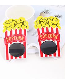 Fashion Multi-color Popcorn Shape Decorated Glasses