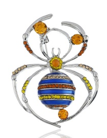 Fashion Multi-color Insect Shape Decorated Brooch
