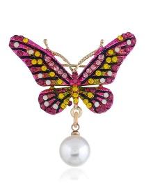 Broche De Mariposa Con Pedreria