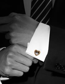 Fashion Gold Color Heart Shape Decorated Cufflinks