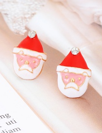 Elegant Multi-color Santa Claus Shape Design Simple Earrings