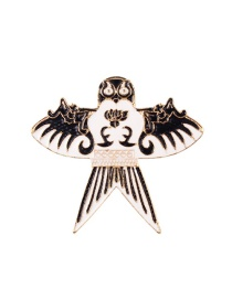 Fashion White Owl Shape Design Brooch