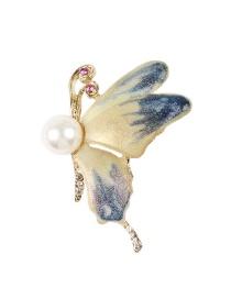 Fashion Multi-color Butterfly Shape Design Brooch