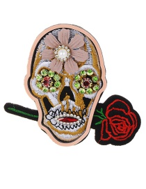 Fashion Multi-color Flower Shape Decorated Brooch