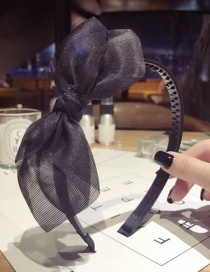 Fashion Black Bowknot Shape Design Pure Color Hair Hoop