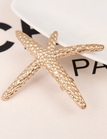 Fashion Gold Starfish Metal Large Spring Clip