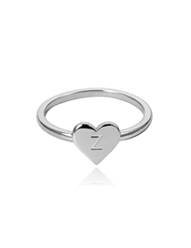 Fashion Silver Letter Z Letter Ring Set