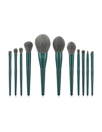 Fashion Dark Green 11 Stick Makeup Brush