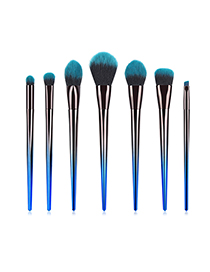 Fashion Blue Black Gradient 7 Sticks Of Diamond Blue Black Hair Makeup Brush