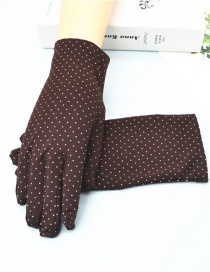 Guantes Cortos Spandex Stretch Dot Brushed