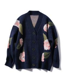 Suéter De Punto Con Flores De Hojas.