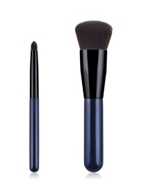 Fashion Blue 2 Sticks Fat Pier Makeup Brush