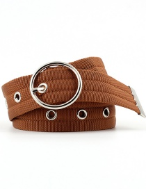 Cinturón De Maíz Con Hebilla Redonda Calada Con Cinturón De Nylon