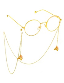 Fashion Gold Non-slip Metal Pumpkin Car Glasses Chain