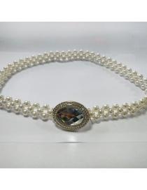 Cadena De Cintura Elástica Con Lazo De Perla