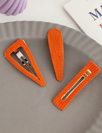 Fashion Water Drops - Orange Geometric Bb Clip (single Price)