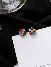 Fashion Flower Section (small) 925 Silver Needle Geometric Earrings