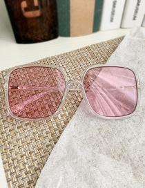 Gafas De Sol Transparentes Cuadradas De Resina Pc