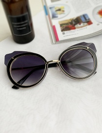 Fashion Navy Blue Alloy Pc Geometric Cat Eye Sunglasses