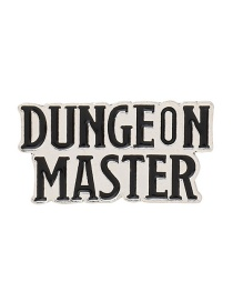 Fashion White Dungeon Master Dungeon With Dragon Enamel Pin