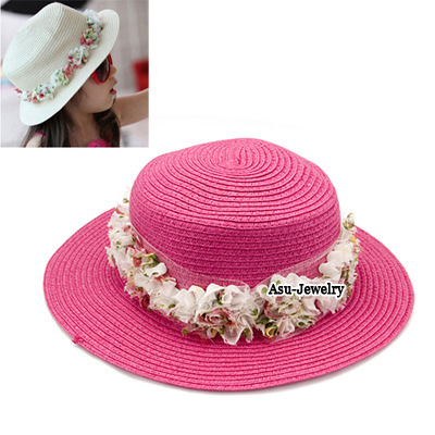 Masonic Plum Red Flower Braided Rope Sun Hats