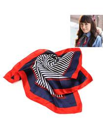 Royal Red Stripe Pattern Square Shape