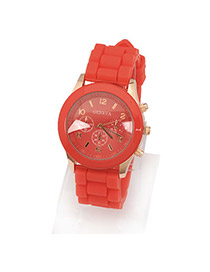 Lace Red Jelly Fluorescence Color Acrylic Fashion Watches