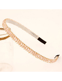 Blank Pink Handmade Beads Decorated Alloy Hair band hair hoop