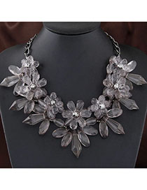 Hemp Gray Flower Shape Decorated Simple Design
